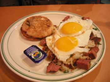 Corned Beef and Eggs at Woodinville Cafe