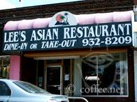 Front of Lee's Asian Restaurant