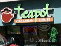 Front of Teapot Vegetarian House