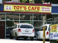 Front of Toy's Cafe