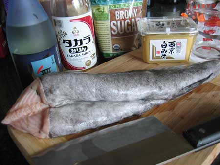 Black cod recipe ingredients